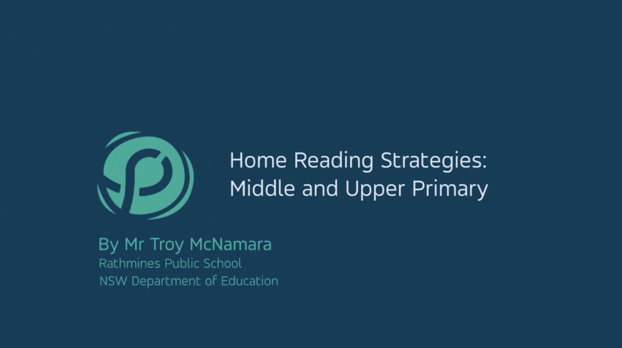 A video outlining the Super Six Strategies of Reading Comprehension for parents including demonstrations of how they are used in school and tips for using them during home reading.